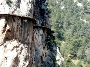 "View of ""Caminito del Rey"" in Malaga, Spain"