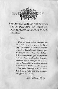 Обращение отца-иезуита луиса Коломы к его светлости принцу астурийскому Альфонсо