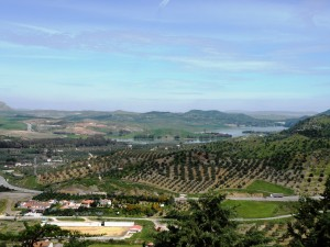 Vistas de alrededores desde castillo Peña de ardales
