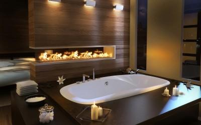 160 фото каминов в ванной комнате