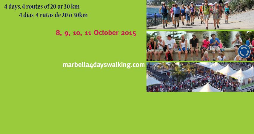 Спортивно-развлекательная инициатива: обойдем Марбелью за 4 дня! Marbella4daysWalking 2015